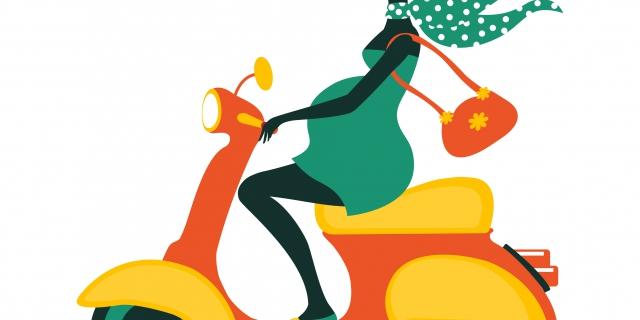 Une femme enceinte peut-elle conduire une moto ?